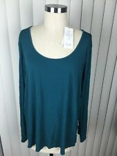 Women's EILEEN FISHER 100% Silk Scoop Neck Loose Stretch Jersey Top 2x NWT