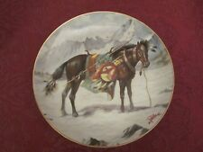 HORSE collector plate PERILLO War Ponies of the Plains NEZ PERCE PONY