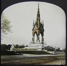 Glass Magic Lantern Slide THE ALBERT MEMORIAL C1910 LONDON ENGLAND