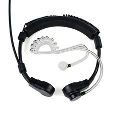 3.5mm 1 Pin PTT Throat MIC Covert Acoustic Tube Earpiece Headset for YAESU VX-10