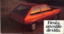 Ford Fiesta Mk 1 Spanish market original sales brochure c.1976/77