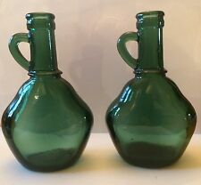 Borges Small Green Wine Bottles Set of 2 Vintage Portugal Decorative