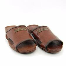 Tommy Bahama Shoe Men Myer Slide Flip Flop Dock Sandal Dark Brown Leather US 9