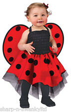 Baby Toddler Girls Ladybird Ladybug Animal Mini Beast Fancy Dress Costume Outfit