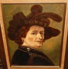 H.J.TOPMAN DUTCH MAN ORIGINAL OIL ON CANVAS PAINTING