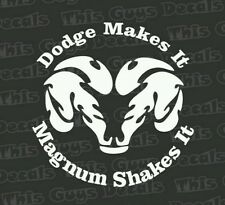 Dodge makes it vinyl decal truck window sticker V8 power engine sticker
