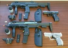 Refurbished MP7 airsoft AEG ultimate duelers kit. 2 MP7 2 Spring pistols + more
