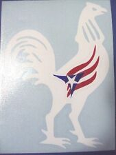 Puerto Rico Rooster with flag Decal Sticker