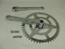 "VINTAGE BICYCLE 48 TOOTH 1/8"" COTTERED CHAINSET WITH 2 COTTER PINS"