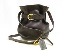 AUTHENTIC VINTAGE COACH BLACK SMALL HOBO SHOULDER BAG WITH OPTIONAL BELTED CLOSU