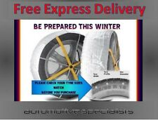 MULTI GRIP CAR ICE SNOW SOCKS CHAINS TO FIT TYRE SIZE 185 / 70 R13 + FREE GLOVES