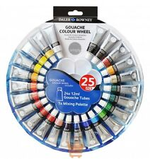 Daler Rowney Simply Gouache Paint Wheel Set 24 x 12ml Tubes Pack & Palette