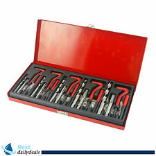 131pcs Thread Repair Kit for Stripped Tapped Hole Helicoil M5 M6 M8 M10 M12