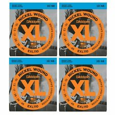 4 SETS D'Addario EXL110 Electric Guitar Strings Nickel Regular 10-46 CHEAP!!!