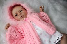 'Katy' - Hand-Knitted Cape Outfit for Reborn Doll.  m4d105