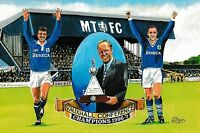 MACCLESFIELD TOWN FOOTBALL CLUB POSTCARD VAUXHALL CONFERENCE CHAMPIONS 1996-97