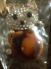 New Quality Swarovski Elements  Teddy Bear Key Chain Key Ring