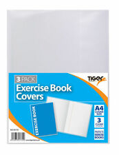 A4 Clear Excercise Book Covers School Notebook Pad PACK OF 3