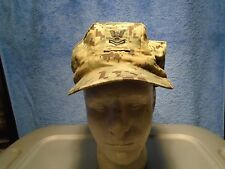 GENUINE US NAVY WORKING UNIFORM NWU GREEN 8 POINT UTILITY CAP 7 5/8 2010 0-1
