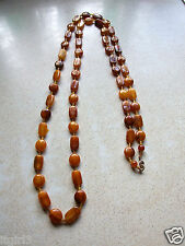 Antique Victorian Baltic Amber Beads Necklace
