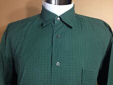 Hugo Boss LS Button Front Shirt Green Patterned size XL Extra Large