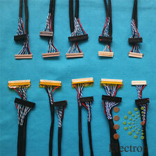 10pcs/set Universal LVDS Cable for LCD Monitor Screen Support 12''-22'' Panel