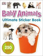 Ultimate Sticker Book: Baby Animals by DK (2016, Paperback)