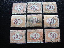 ITALIE - timbre yvert et tellier taxe n°8 x9 obl - stamp italy (A1)