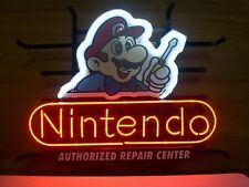 "Classic Nintendo Super Mario Real Glass Neon Light Sign Game Room Sign 19""×15"""