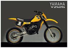 YAMAHA Poster YZ125 YZ125J 1982 VMX Yellow USA Suitable to Frame