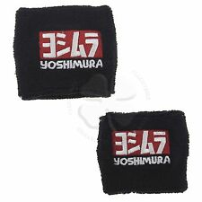 Large & Small Black Yoshimura Brake Clutch Reservoir Sock Cover Motorcycle Bike