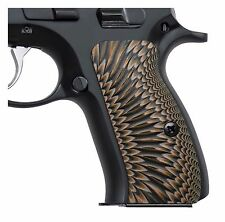 "CZ 75 G10 Grips,Compact,Coyote,Sunburst,Thickness 0.26"",COOL HAND H6C-J6-24"