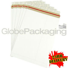 100 x Strong C4 / A4 Size ALL BOARD White Postal Mailing Envelopes 324x229mm