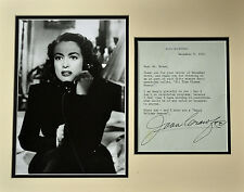 Autographed Letter / Photograph Joan Crawford: 1976 Autographed reply letter