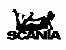 SCANIA Girl  Aufkleber Car Truck Window Bumper Laptop Sticker Vinil Decal 242