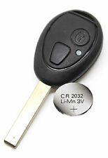 Rover 75 MG ZT Replacement 2 Button Remote Key FOB Shell/Case + Battery CR2032