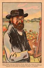 HOMMAGE A PAUL CEZANNE IMAGE 1936 OLD PRINT