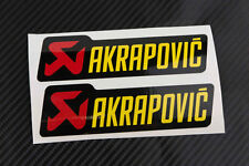 Akrapovic Exhaust heat  Stickers Decal Decals