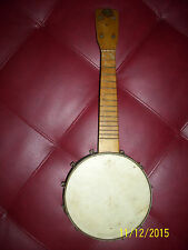 "winner  BANJO Banjo Uke~Birds-Eye Maple old rare 7 1/2 skin 14"" neck with tag"