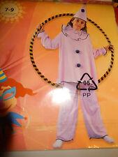 Kostüm Clown für Mädchen rosa 7-9 Jahre 116