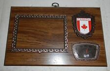 Wooden Canada Maple Leaf Flag Logo Photo Picture Frame Plaque w/ Thermometer