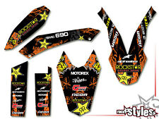 KTM 690 smc smc/r Enduro (08-16) | rock star Décor Décalques Kit sticker Graphics