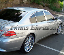 2007-2011 BMW 3-series E90 6Pc Chrome Pillar Post Stainless Steel