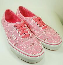 VANS��HELLO KITTY Authentic Women's Lace-Up Sneakers Pink/White Canvas US Size 7