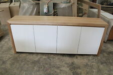 Factory direct tassie oak  timber fairmont buffet/sideboard Gloss Poly Doors