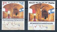 ISRAEL 2014 MALTA JOINT ISSUE HALL OF KNIGHTS STAMPS MNH