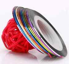 10Pcs Multicolor Beauty Nail Rolls Striping Tape Line Art Decoration Sticker CAD