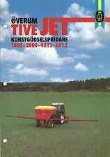 Farm Equipment Brochure - Overum - Tive Jet 1000 et al Sprayer SWEDISH (F4885)