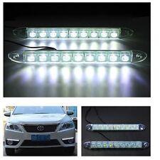 Paire Universel 9 LED 12V/24V 6W DRL IP65 Feu de Jour FOG Lumière Blanc Auto