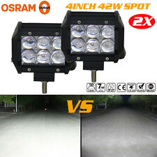 5D 2X 4inch 42W OSRAM Led Light Bar SPOT Work Light 4WD Off-road Driving Lamp US